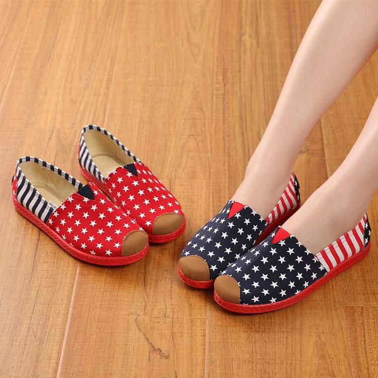 新款秋冬季布鞋女鞋平底鞋浅口透气休闲工作鞋棉鞋