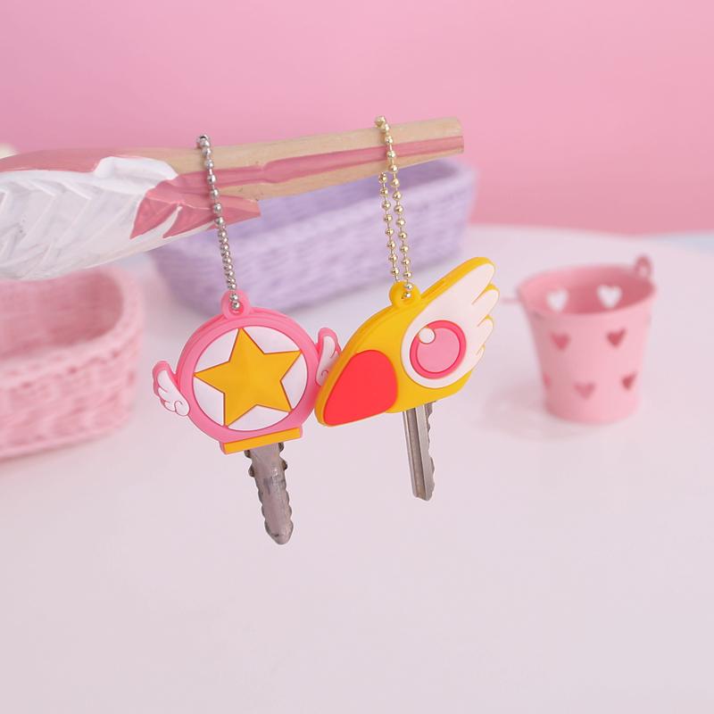日系少女心魔卡少女樱百变小樱魔法棒钥匙套扣超萌可爱软妹挂件