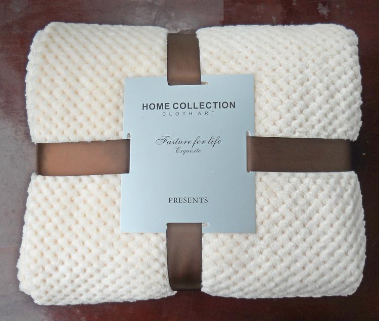 沙发盖毯午睡 纯色珊毯 网眼毯子 菠萝格毛毯 加厚法兰绒毛毯
