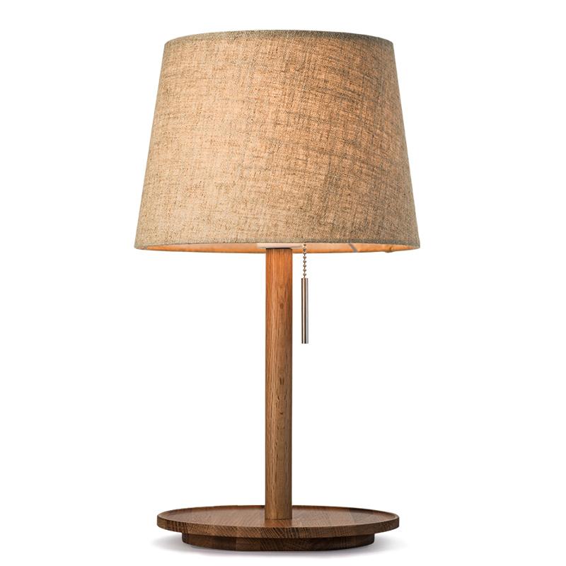 北欧台灯卧室简约现代美式创意结婚温馨暖光日式实木小床头灯
