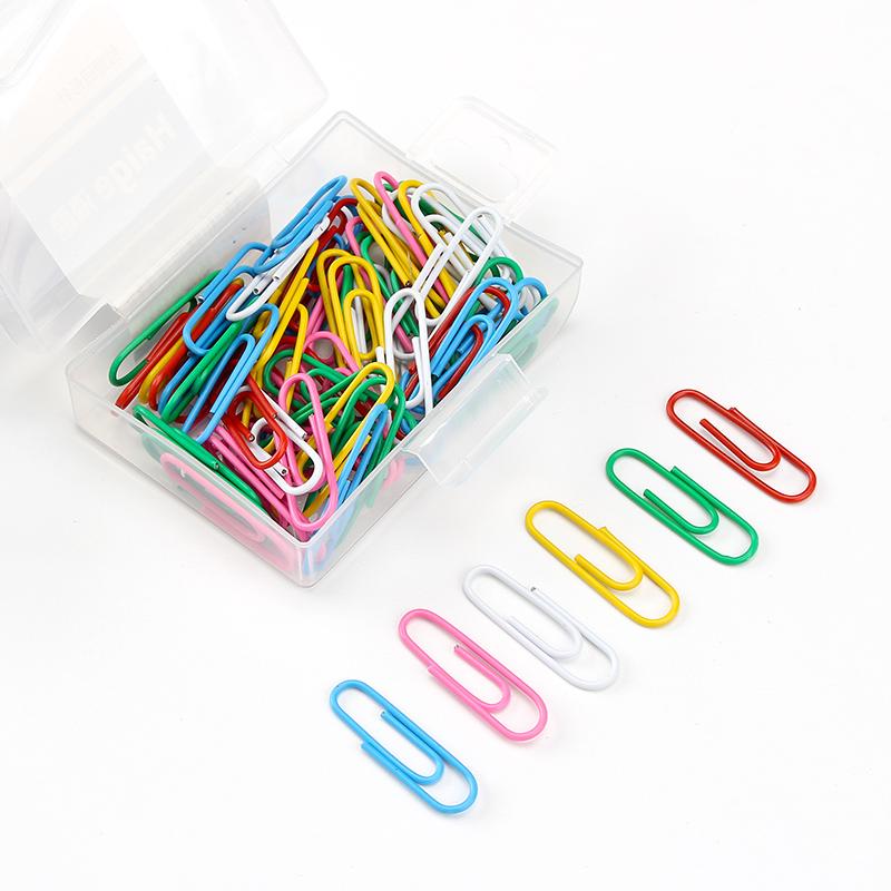 回形针可爱办公用品创意彩色文具曲别针回型针财务区别针人水滴形
