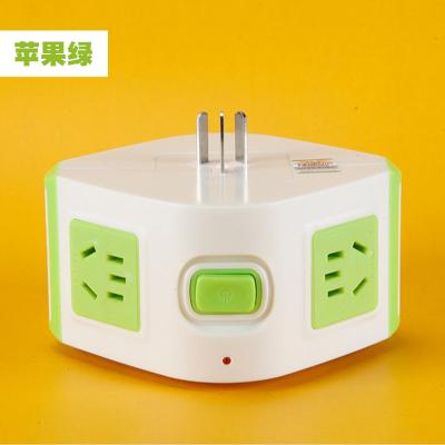 魔方插座转换器一转五排插孔多功能立式电源插头