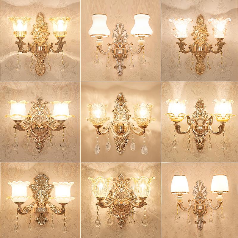 浴室镜前灯 欧式巴玻璃灯灯客厅卧室床头单头壁灯