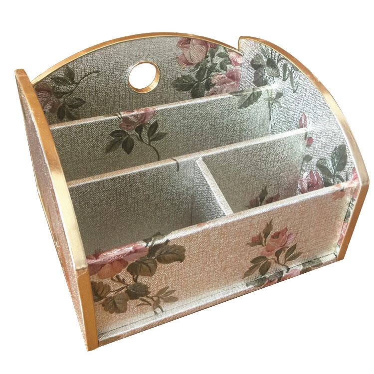 壁纸收纳篮子家居桌面杂物存储筐遥控篮收纳盒遥控器储物篮首饰篮
