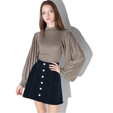 Chiffon Blouse High Split Casual Shirts