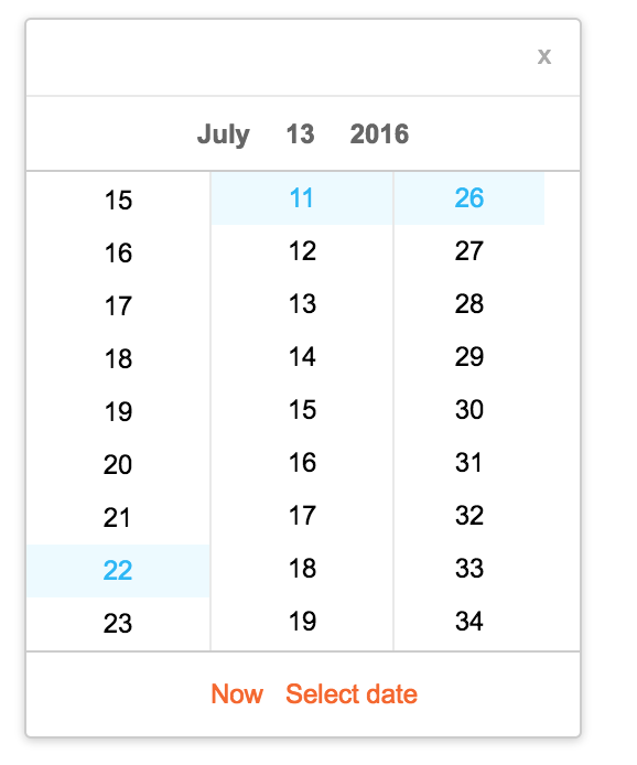 Year Calendar React : Rc calendar react