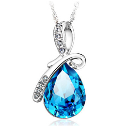 100% 925 sterling silver Angel Tears necklace