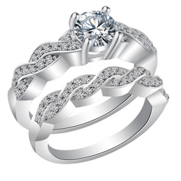 CZ Ring Korean fashion diamond ring set ring