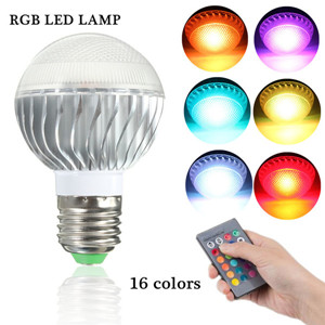 E27 9W 16 Color Change RGB LED Ball Light