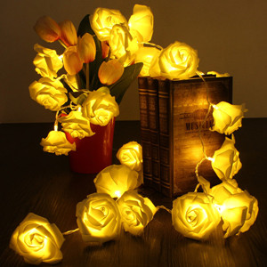 Festival 30 LED 3XAA Rose Flower Fairy String