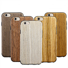 Wood Pattern Soft Case For iPhone 6S