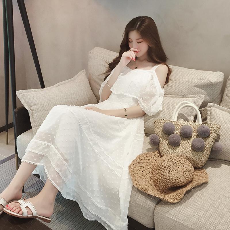 夏季新款连衣裙,让你?#24067;?#21464;韩?#24471;让?#23376;