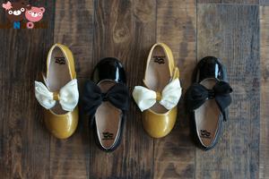 【全场买两双送打底裤】Jonbobo女童皮鞋黑色演出鞋女童鞋公主鞋韩版蝴蝶结童鞋女单鞋儿童春秋鞋