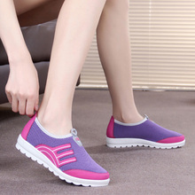 Spring new old Beijing cloth shoes women's shoes flat sole casual sports shoes single shoes