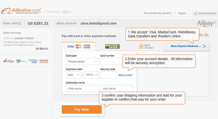 Wholesale Help Various payment methods are available on alibaba that you can use to pay suppliers. wholesale help