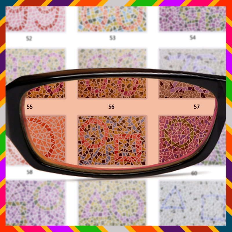 Uno color blindness color weakness color blindness color weakness corrective glasses medical license exam colorblind glasses Genuine free shipping - Taobao Depot, Taobao Agent