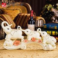 欧式创意陶瓷大象摆件家居装饰品电视柜客厅酒柜摆设乔迁结婚礼物