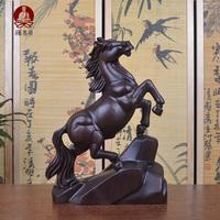 黑檀木雕红木工艺品木雕马摆件 马到成功 招财马摆件工艺装饰礼品