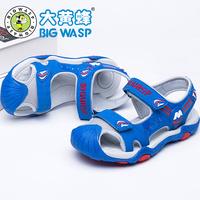 大黄蜂童鞋 夏天中大童男童包头凉鞋 儿童鞋子小学生沙滩鞋3-12岁
