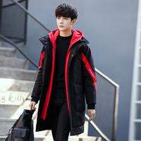 冬季男士棉衣韩版潮流中长款加厚外套羽绒大棉袄帅气冬天男装棉服