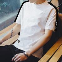 夏季男士ins短袖t恤潮流圆领半袖男装韩版文艺简约衣服修身体恤潮