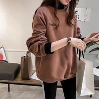 长袖t恤女2019秋季新款韩版宽松假两件套中长款大码打底衫上衣潮