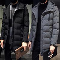 冬季棉衣男中长款韩版潮流男士2018新款加厚修身羽绒棉袄外套棉服