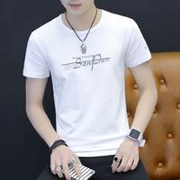 男士短袖t恤白色打底衫男装纯棉上衣服T桖体恤潮流夏季潮牌半截袖