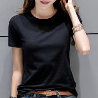 天天特价短袖纯白色t恤女装夏季修身黑色打底衫纯棉韩范上衣体恤